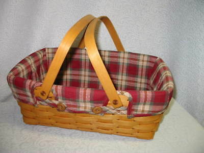 LONGABERGER ORCHARD PARK PLAID LINER ONLY for  SMALL MARKET BASKET OTE