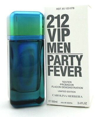 efda2da236 212 VIP MEN Party Fever by Carolina Herrera 3.4 oz. EDT Spray. Brand New