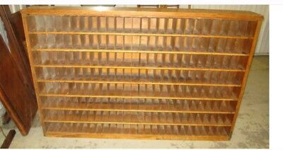 Vintage Furniture Cubby Hole/Sorter Post Office Mailer,Tongue and Groove 208Slot