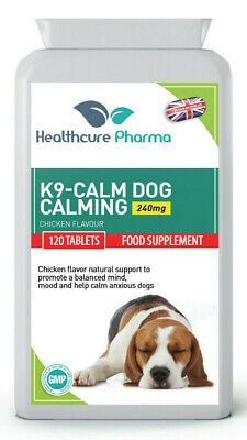 K9-Calm Dog Calming 120 Chicken Flavour Tablets Anxiety & Hyperactivity Support