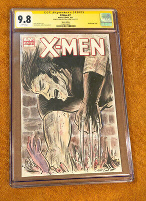 Cgc 9.8 Ss Nm+ Matt Kindt Wolverine Sketch Variant Comic Book X-Men Painting 1 7