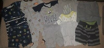 11 Piece Baby Boy 6-9 Month Pajamas Outfit Pants Bundle Lot Carter's Bundles