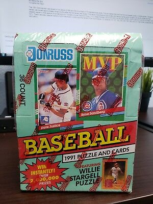 1991 Donruss Baseball Series 2 Unopened Sealed Wax Boxes