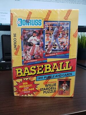 1991 Donruss Baseball Series 1 Unopened Sealed Wax Boxes