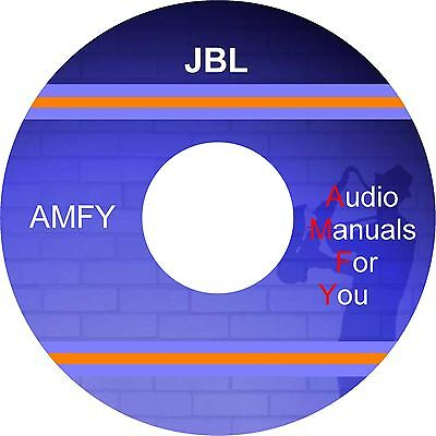 JBL AUDIO SERVICEMANUALS, ownersmanuals and schematics on dvd on