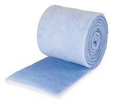 """10 Feet Blue Bonded Filter Media Roll - 10' X 12"""" X 1"""" Pond, Wet/dry Sump Pads"""