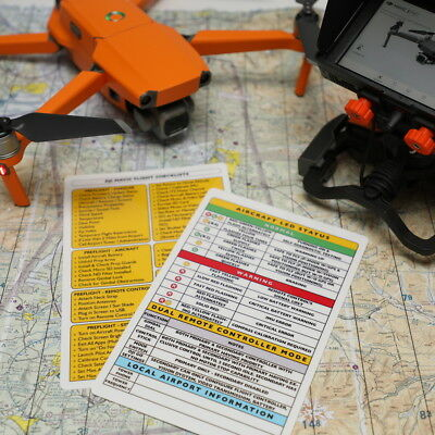 NEW DJI Mavic 2 Pro / Zoom Advanced Drone Laminated Safety Flight Checklist