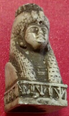 Egyptian Statue Queen Cleopatra, Natural Carved Stone 50 mm