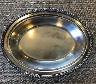 english silver mfg corp oval dish bowl 202 s made in usa silver plate picclick. Black Bedroom Furniture Sets. Home Design Ideas