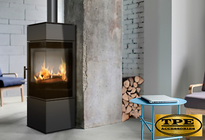 THOR 8 - Modern Free Standing Corner Contemporary Stove Wood Burner Log Burner