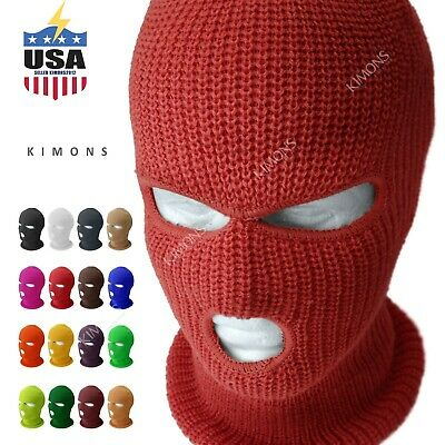 3 Hole Full Face Mask Ski Mask Winter Cap Balaclava Hood Army Tactical Mask