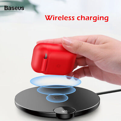 Qi Wireless Charging Soft Silicone Shockproof Case Cover For Apple Airpods