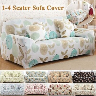 STRETCH CHAIR SOFA Covers 1 2 3 4Seater Couch Cover Retro Elastic Soft  Slipcover