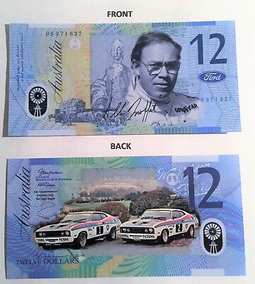 Allan Moffat 1,2, Polymer Novelty Note, Falcon, BP,  Bathurst, Ford, Camel.