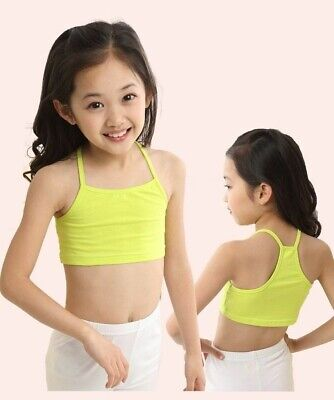 Girls Bra Cotton Vest Camisole Underwear Tank Tops Kids Clothing Accessories New