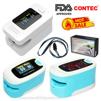 USA,Finger Pulse Oximeter SPO2 Sensor Pulse Heart Rate Blood Oxygen Monitor,FDA