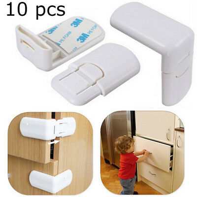 NEW 10pcs Child Kids Baby Safety Cabinet Door Fridge Drawer Cupboard Lock Latch