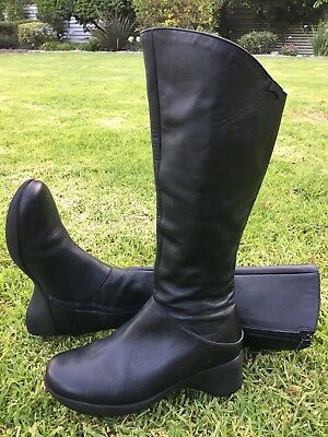 936628b4bb2 Camper Leather Riding Knee High Tall Zip Winter Comfort Boot Motorcycle 38  7.5 7