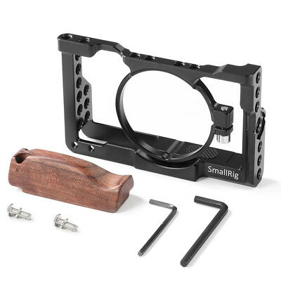 SmallRig Camera Cage Kit w/ Wooden Handle Grip for Sony RX100 M6 VI - 2225