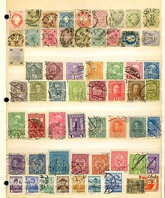 290 Austria Stamp All Different Used Mint Hinged MH Antique Costume Etc Lot U74