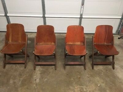 Set of 4 Vintage American Seating Folding Chairs