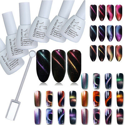 BORN PRETTY 3D Cat Eye Magnetic UV Gel Holographic Chameleon LED Gel Nail Polish