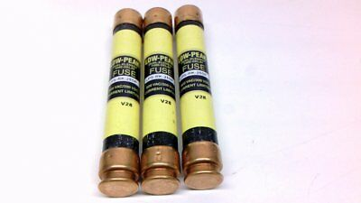 Bussmann 25A Low Peak Dual Element Time Delay Fuse Lps-Rk-25Sp *lot Of 3*