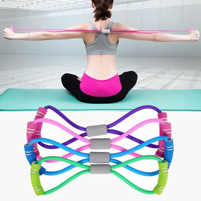 Exercise Bands Resistance Set Fitness Yoga Stretch Elastic Loop Legs Therapy