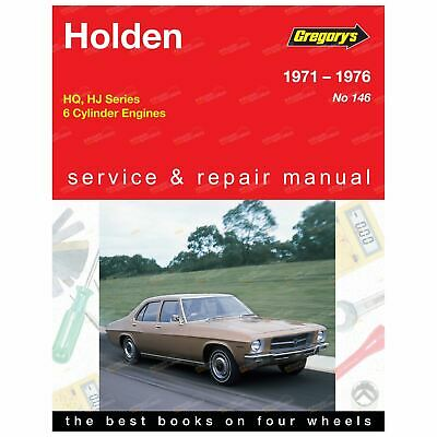 Gregory's Workshop Repair Manual Book Holden HQ HJ 1971 to 1976 6Cylinder