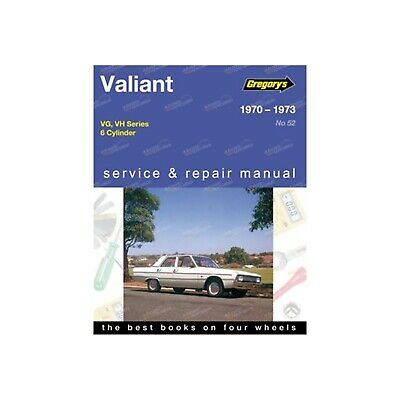 Gregory's Workshop Repair Manual Chrysler Valiant VG VH Series 6Cyl 1970-1973