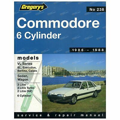 Gregory's Workshop Repair Manual Book Holden Commodore VL 3.0L 1986 to 1988