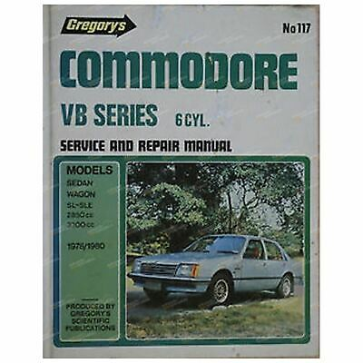 Gregory's Workshop Repair Manual Book Holden Commodore VB 6Cylinder 1978 to 1980