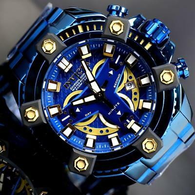 Invicta Grand Octane Coalition Forces Blue Label 63mm Swiss Mvt Steel Watch New