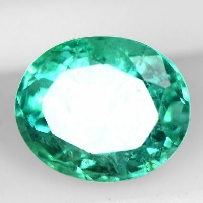 0.42 Cts Natural Top Green Emerald Oval Cut Zambia 5x4 mm Loose Gemstone $