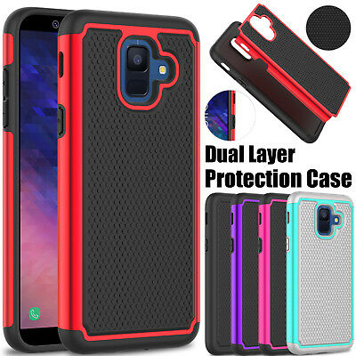 For Samsung Galaxy A6 2018 Phone Case Shockproof Rugged Hard Rubber Armor Cover