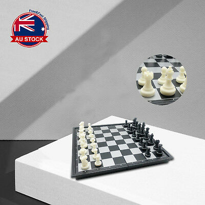 25 x 25cm Foldable Magnetic Chess Box Set Educational Board Contemporary Games B