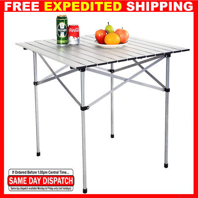Square Aluminum Alloy Picnic Table Roll Up Portable Folding Camping Outdoor bag