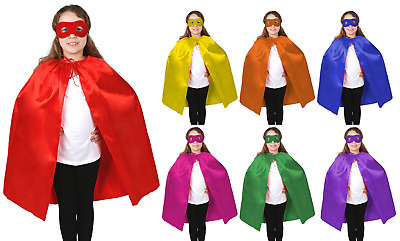 Kid's Cape Kid Cape Superhero Plain Colour Cloak 90cm Satin