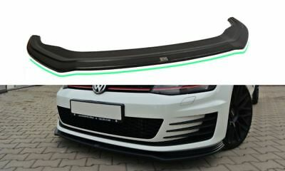VW Golf 7 GTD Gti Diffuser Lip Front Approach Frontlippe Spoiler v.2 Shiny Gloss