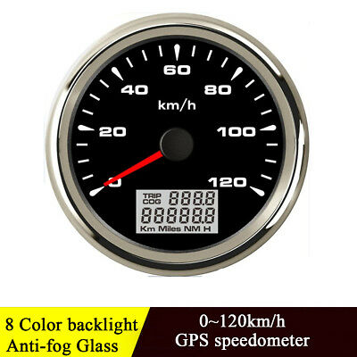 85mm Black GPS Speedometer Gauge 120 KM/H Odometer For Car Truck Motorcycle ATV
