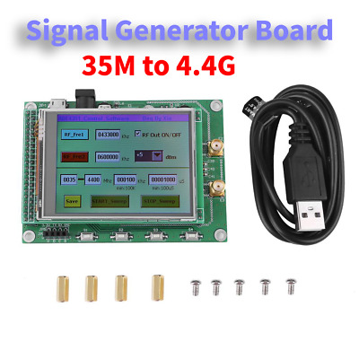 ADF4351 RF Sweep Signal Source Generator Module 35M-4.4G+STM32 TFT LCD HQ