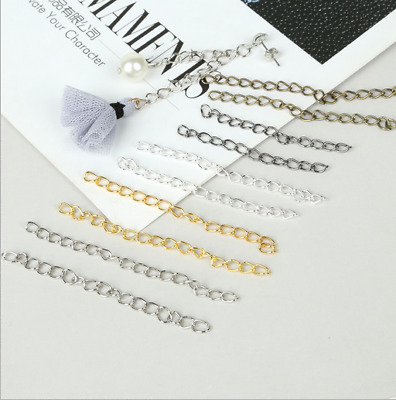 DIY 100pcs Extended Chains Earrings Accessories Chain Connector Jewelry