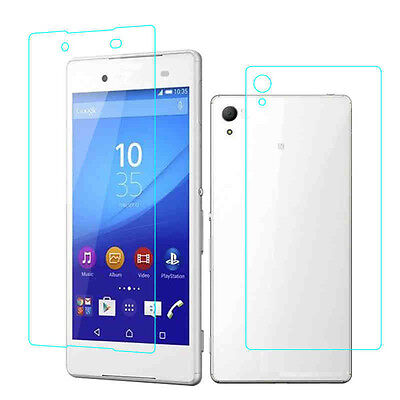 Front + Back Tempered Glass For Sony Xperia Z1 Z2 Z3 Z4 Compact Screen Protector