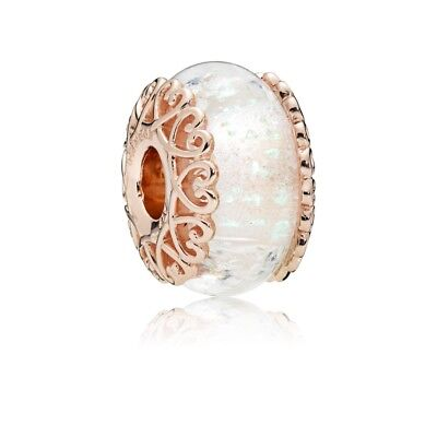 Authentic Pandora Pandora Rose Gold Charm Murano Glass Bead 787576