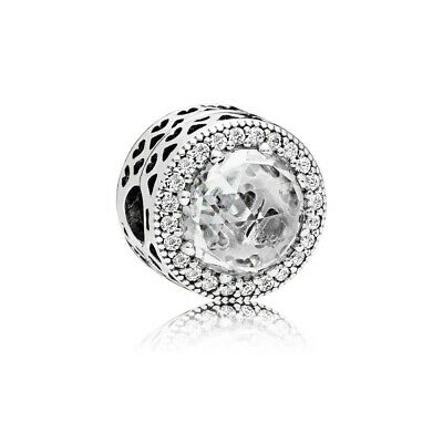 Authentic Pandora Sterling Silver Radiant Hearts Clear CZ Clip 796239CZ