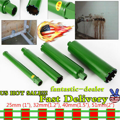"Wet Diamond Core Drill Bit for Concrete-Premium Green 1"",1.2"",1.5"", 2"" From USA!"