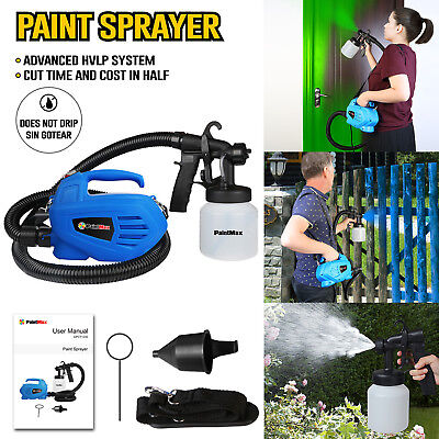 UK 800ml Electric Paint Sprayer Gun Varnish Lacquer Fence Garden Stain Painting