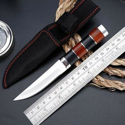 "6"" Fixed Blade Straight Tactical Military Pocket Hunting Knife With Sheath"