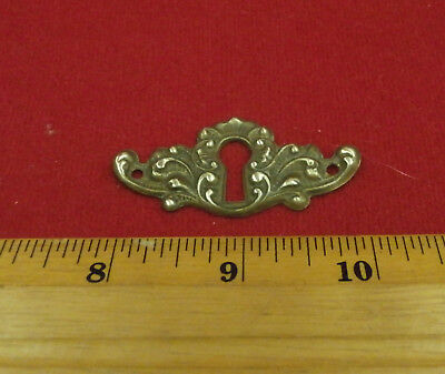 Vintage Antique Brass Escutcheon Keyhole Plate 001