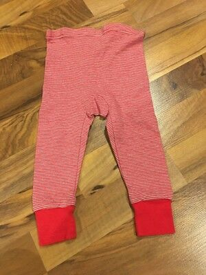 Red Striped Infant Long Underwear 18M GUC